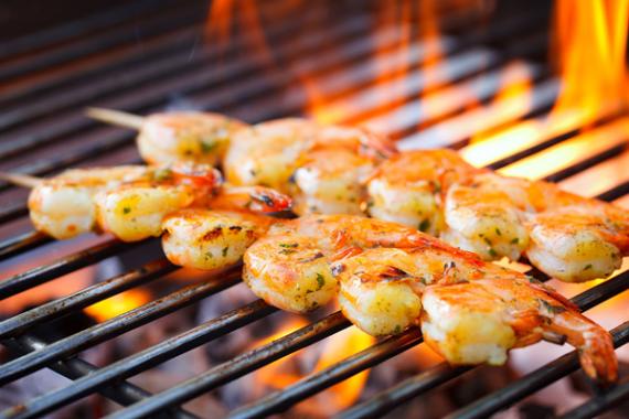 Grillpakken - Grilling av reker